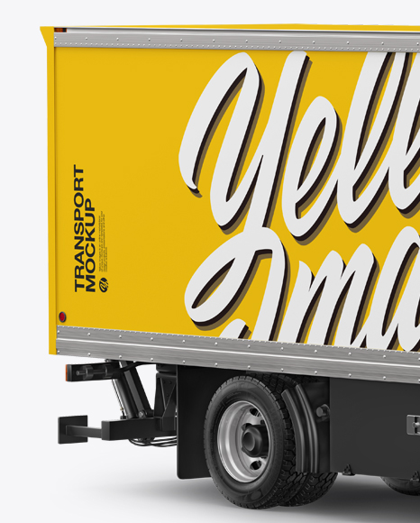 Download Box Truck Mockup - Half Side View in Vehicle Mockups on ...