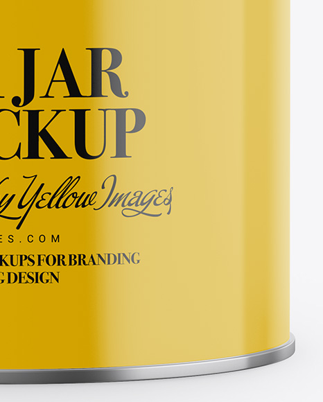 Download Glossy Ceramic Jar With Locking Lid Psd Mockup Yellowimages