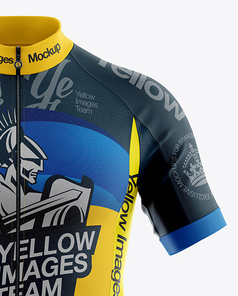 Download Men's Full-Zip Cycling Jersey Mockup - Front View in ...