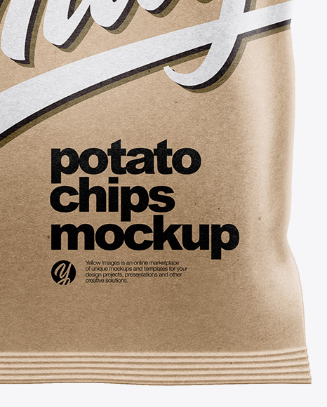 Download Matte Bag With Potato Chips Psd Mockup Yellowimages