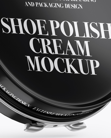 Download Glossy Shoe Polish Cream Jar Psd Mockup Yellowimages