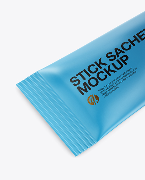 Download Metallic Stick Sachet Psd Mockup Half Side View Yellowimages