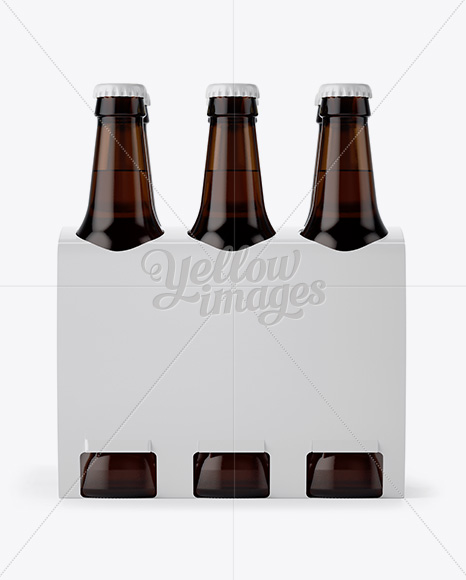 Download 6 Amber Glass Bottles Pack Psd Mockup Yellowimages