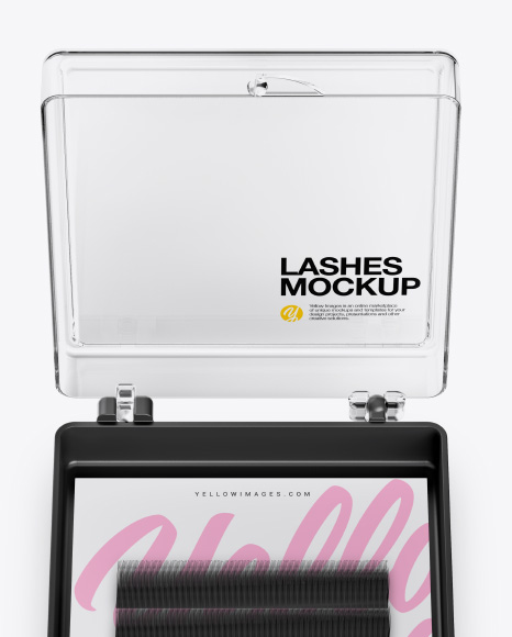 Download Opened Transparent Box With Lashes Psd Mockup Yellowimages