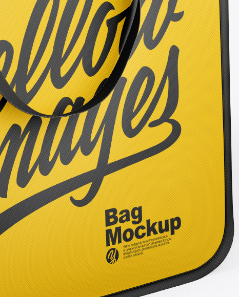 Download Bag Mockup Half Side View High Angle Shot Yellow Images