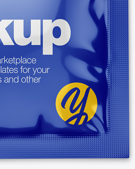 Download Glossy Wet Wipes Psd Mockup Yellow Images