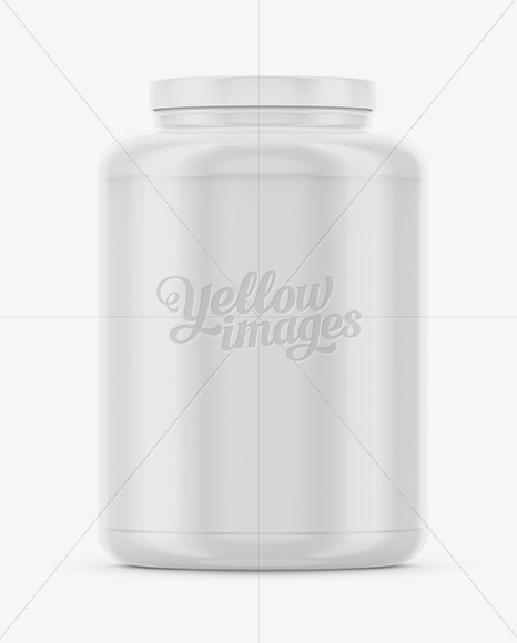 Download Plastic Protein Jar Psd Mockup Yellow Images