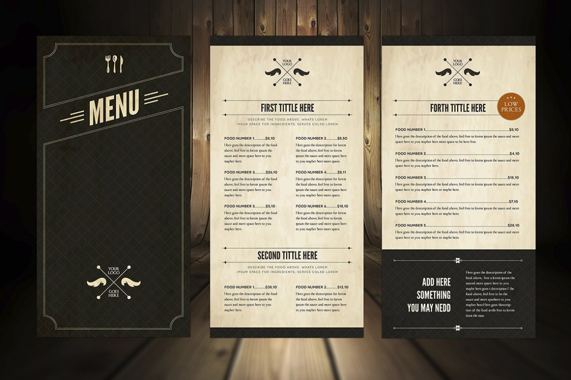 Download Leather Menu Mockup Psd Yellowimages
