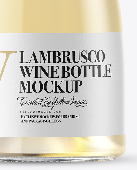 Download Green Glass Lambrusco Red Wine Bottle Psd Mockup Yellowimages