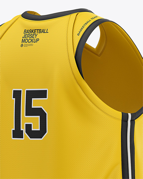 Download Men's V-Neck Basketball Jersey Mockup - Back Half Side ...