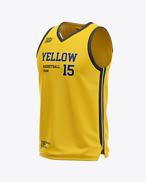 Download Basketball Kit Mockup Half Side View Yellowimages