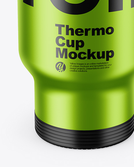 Download Opened Metallic Thermos Psd Mockup Yellowimages