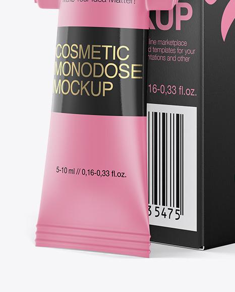 Download Matte Plastic Cosmetic Monodose Psd Mockup Yellowimages