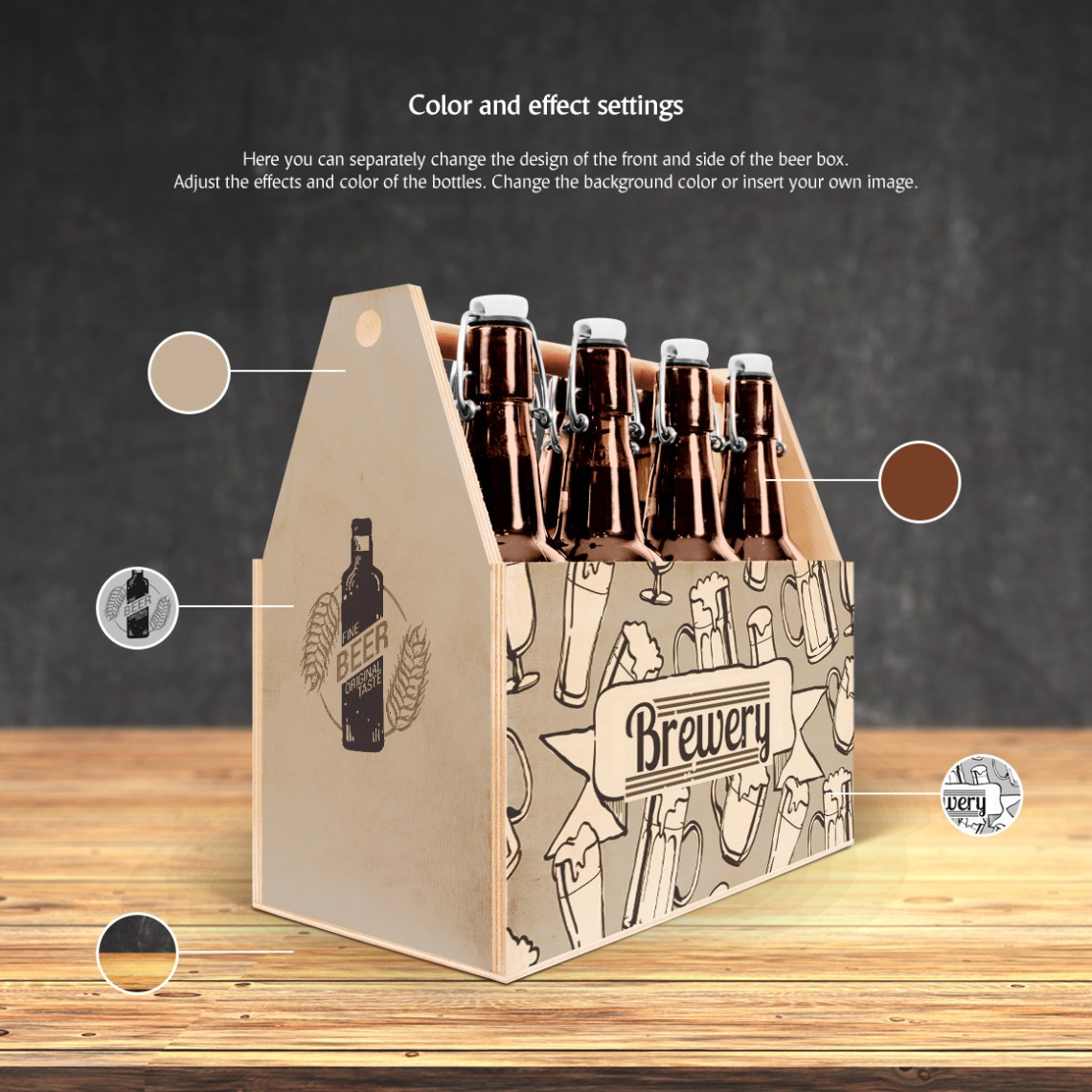 Download Craft Beer Box Mockup in Packaging Mockups on Yellow ...