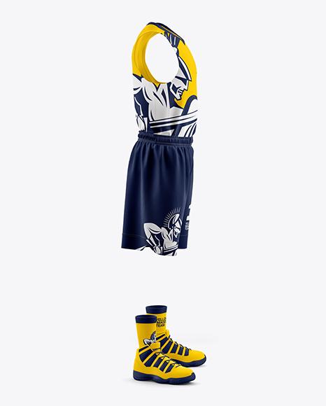 Download Mens Full Basketball Kit Jersey Mockup PSD File 140.72 MB ...