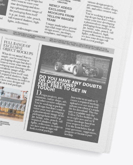Download Newspaper Mockup Design Yellowimages