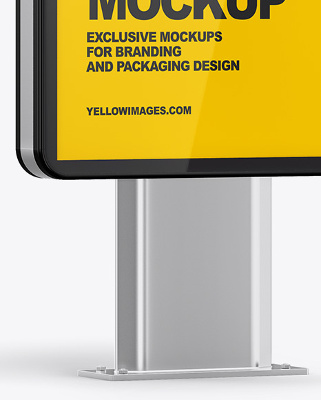 Download Outdoor Billboard Mockup Psd Free Download Yellow Images