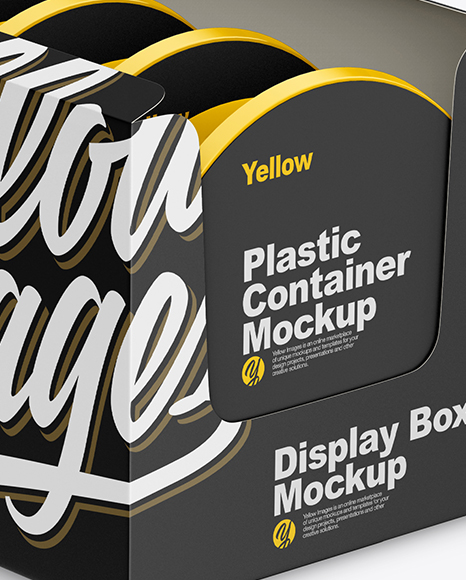 Download Display Box Food Containers Psd Mockup Yellowimages