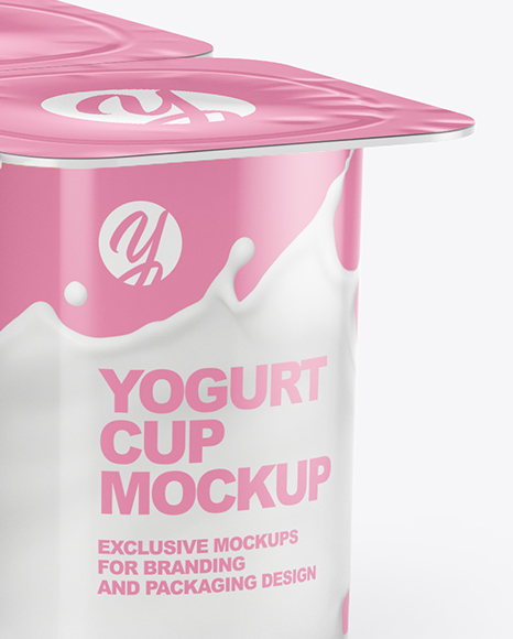 Download 8 Pack Yogurt Psd Mockup Yellowimages
