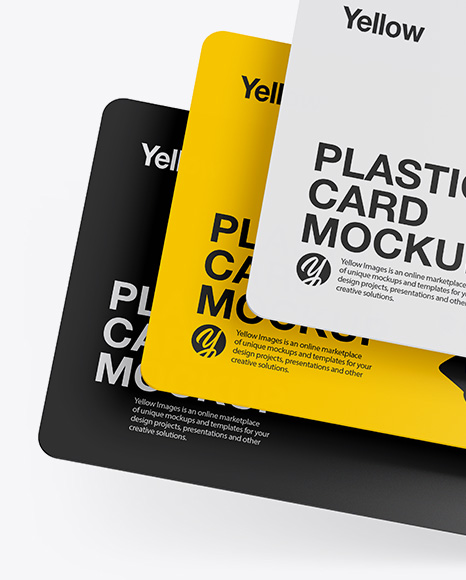 Download Square Business Card Mockup Yellow Images