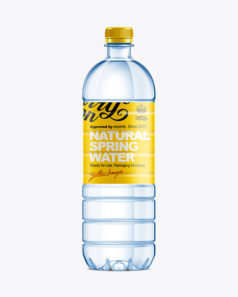 Download Plastic Bottle With Dispenser Psd Mockup Yellow Images