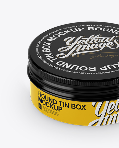 Download Glossy Shoe Polish Cream Jar Psd Mockup Yellow Images