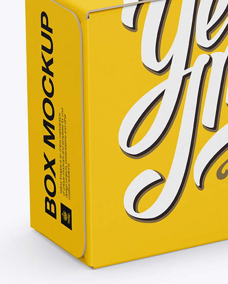 Download Rough Kraft Box Psd Mockup Half Side View Yellowimages