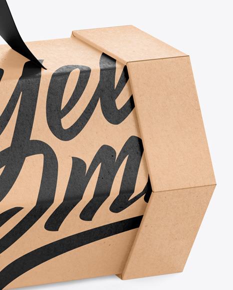 Shoe box premium and free mockup by anagram design. Hexagon Kraft Box Mockup In Box Mockups On Yellow Images Object Mockups