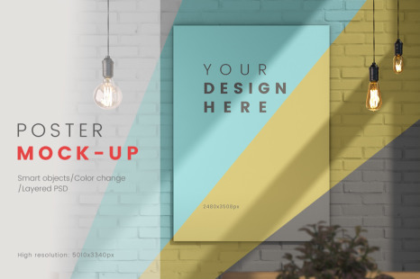 Download Free Wall Mockup Psd Yellowimages