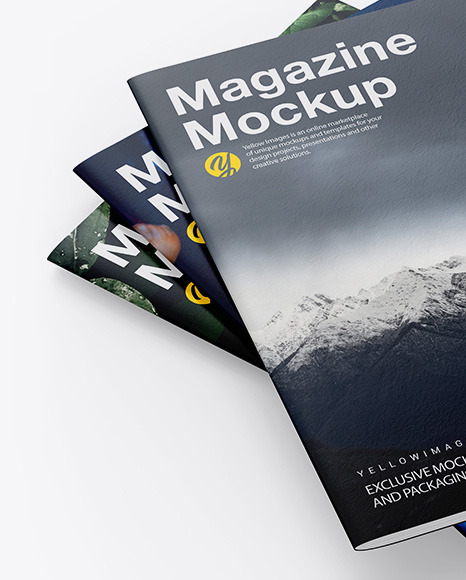 Download Mockup Magazine Cover Yellow Images
