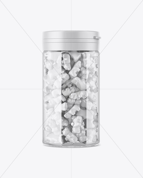 Download Plastic Jar With Gummies Psd Mockup Yellowimages