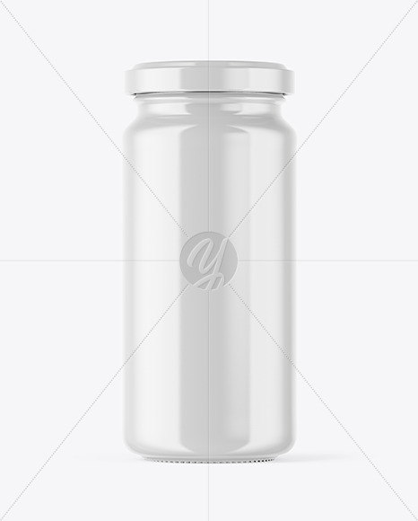 Download Clear Honey Jar With Clamp Lid Psd Mockup Yellowimages