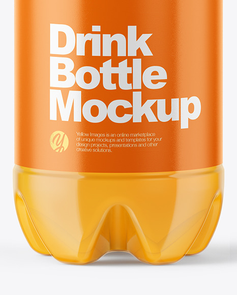 Download Pet Amber Bottle Psd Mockup Yellowimages