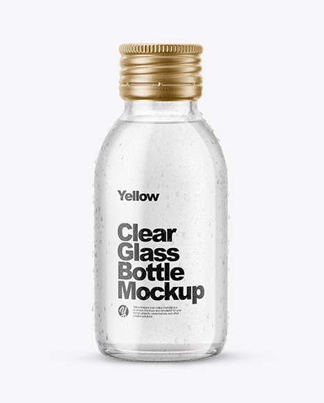 Download 100ml Amber Glass Bottle In Shrink Sleeve Psd Mockup Yellowimages