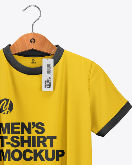 Download Free T Shirt Mockup Template Coreldraw Yellow Images