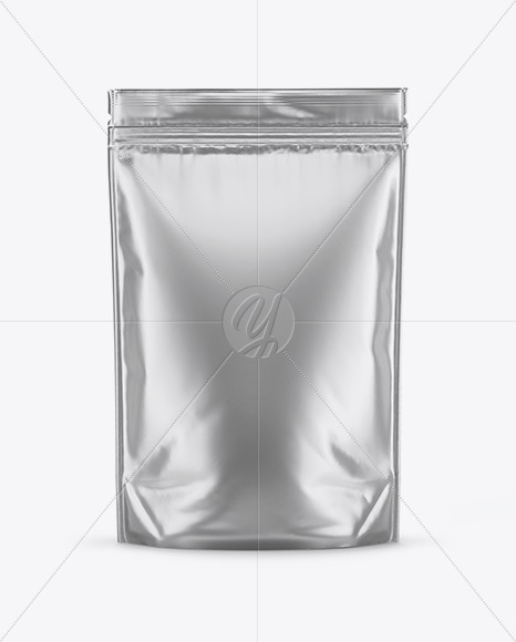 Download Matte Metallic Stand Up Pouch Psd Mockup Yellow Images