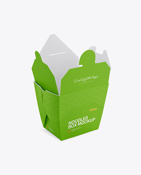 Opened blank wok box mockup stand isolated, 3d rendering. Free Opened Matte Noodles Box Mockup Half Side View Psd 31265 Best Free Box Mockups Packaging Mockup Psd