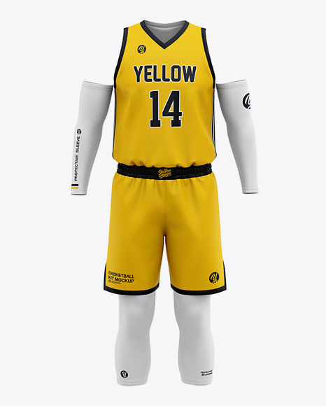 Download Men's Basketball Kit Mockup - Front View Of Basketball ...