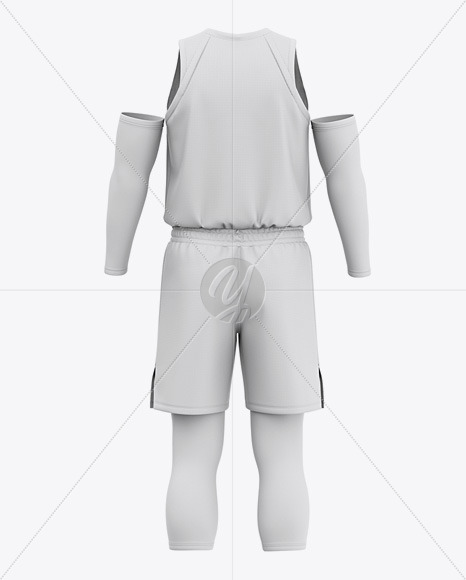 Download Basketball Kit Mockup Front View Yellow Images