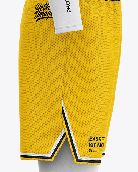 Download Basketball Uniform Mockup Front View Yellowimages