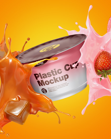 Download 2 Pack Yougurt Psd Mockup Yellowimages