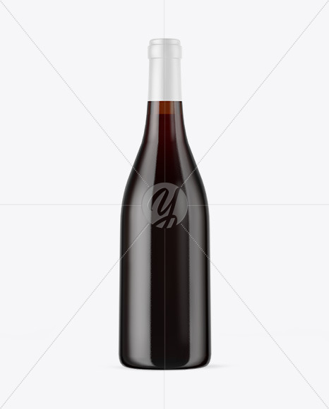 Download Amber Glass Bottle With Red Wine Psd Mockup Yellowimages
