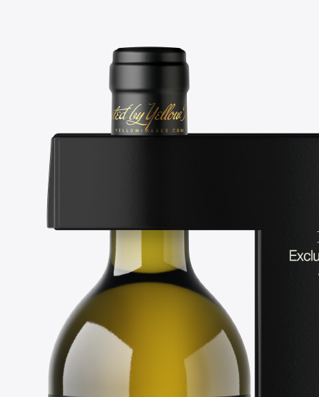 Download Green Glass Wine Bottle Glass Psd Mockup Yellowimages