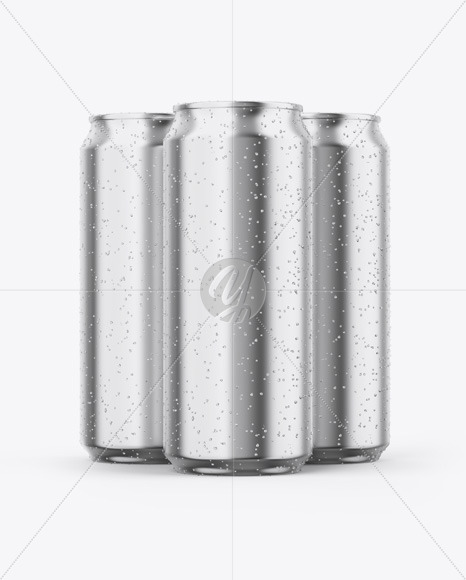 Download Glossy Can With Condensation Psd Mockup Yellow Images