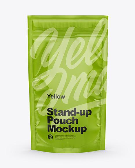 Download Plastic Zip Bag Mockup Yellow Images