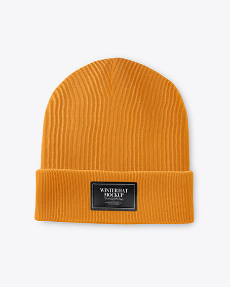 Download Beanie Hat Mockup Top View Yellowimages