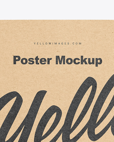 Download Poster Outdoor Mockup Free Download Yellow Images