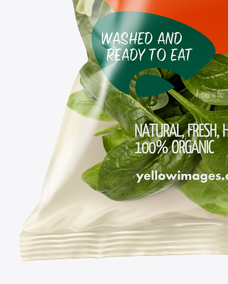 Download Plastic Bag With Bok Choy Psd Mockup Yellow Images
