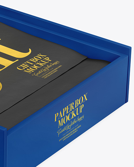 Download Matte Opened Box Psd Mockup Yellowimages