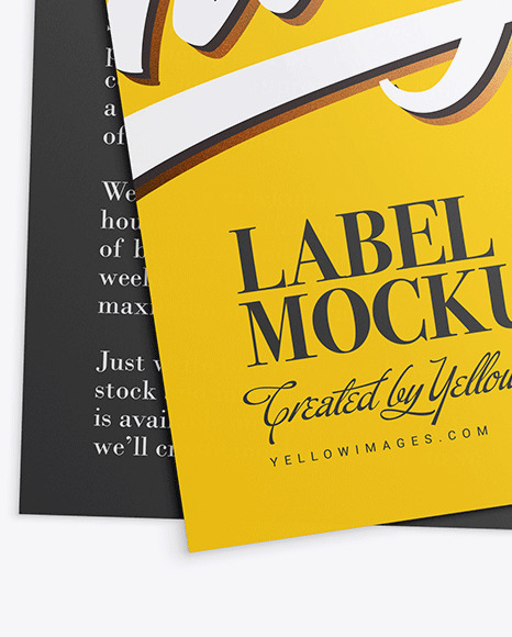 Download Fabric Label Mockup Free Yellowimages
